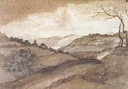 Claude Lorrain Landscape Pen drawing and wash (mk17) oil painting picture wholesale