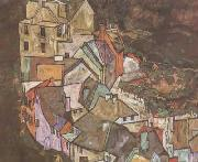 Egon Schiele Edge of Town (Kruman Town Crescent III) (mk12) oil painting picture wholesale