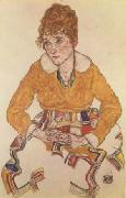 Egon Schiele Portrait of the Artist's Wife (mk12) oil painting picture wholesale