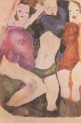 Egon Schiele Three Girls (mk12) oil painting picture wholesale