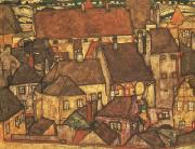 Egon Schiele Yellow City (mk12) oil painting picture wholesale