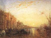 Felix Ziem Venice with Doges'Palace at Sunrise (mk22) oil painting artist