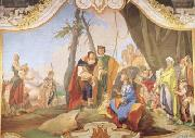 Giovanni Battista Tiepolo Rachel Hiding the Idols from her Father Laban (mk08) oil painting reproduction