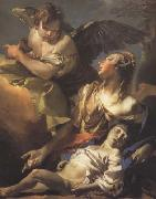 Giovanni Battista Tiepolo Hagar and Ismael in the Widerness (mk08) oil painting picture wholesale