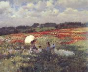 Giuseppe de nittis In the Fields Around London (nn02) oil painting picture wholesale