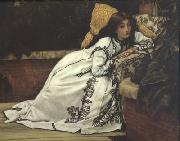 James Tissot Jeunes Femmes Regardant Des Objets Japonais (Young Ladies Looking At Japanese Objects) (nn01) oil painting picture wholesale