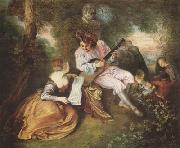 Jean-Antoine Watteau Scale of Love (mk08) oil painting picture wholesale