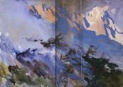John Singer Sargent Mountain Fire (mk18) oil painting picture wholesale