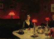 John Singer Sargent A Dinner Table at Night (The Glass of Claret) (mk18) oil painting picture wholesale