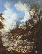 MAGNASCO, Alessandro Seascape with Fishermen and Bathers (mk08) oil painting picture wholesale