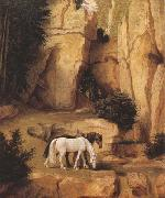 Moritz von Schwind A Hermit Leading Horses to the Trough (mk22) oil painting picture wholesale