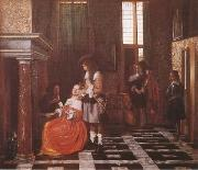 Pieter de Hooch The Card-Players (mk08) oil painting picture wholesale