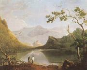 Richard  Wilson View of Snowdon from Llyn Nantlle (mk08) oil