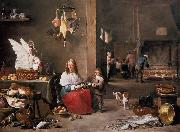 TENIERS, David the Younger Kitchen Scene (mk14) oil painting picture wholesale