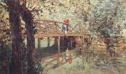 Telemaco signorini The Wooden Footbridge at  Combes-la-Ville (nn02) oil painting picture wholesale