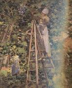 Theodore Robinson Gathering Plums (nn02) oil painting picture wholesale