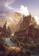 Thomas Cole Valley of the Vaucluse (mk13) oil painting picture wholesale