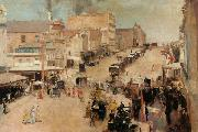 Tom roberts Bourke Street,Melbourne (nn02) oil painting picture wholesale