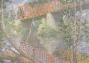 julian alden weir The Red Bridge (nn02) oil