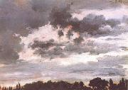 Adolph von Menzel Study of Clouds (nn02) oil painting picture wholesale