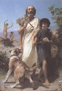 Adolphe William Bouguereau Homer and His Guide (mk26) oil painting picture wholesale