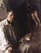 Anders Zorn Self-Portrait with Model (nn02) oil painting picture wholesale