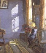 Anna Ancher Sunshine in the Blue Room (nn02) oil