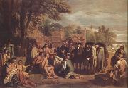 Benjamin West William Penn's Treaty with the Indians (nn03) oil painting picture wholesale