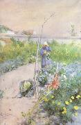 Carl Larsson In the Kitchen Garden (nn2 oil painting picture wholesale