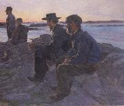 Carl Wilhelmson On the Rocks at Fiskebackskil (nn02 oil painting picture wholesale