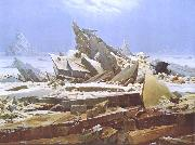 Caspar David Friedrich The Wreck of the Hope (nn03) oil painting picture wholesale