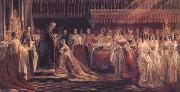 Charles Robert Leslie Queen Victoria Receiving the Sacrament at her Coronation 28 June 1838 (mk25) oil painting artist