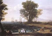 Claude Lorrain Coast Scene with the Rape of Europa (mk25) oil painting picture wholesale