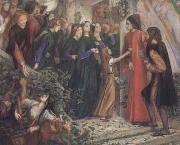 Dante Gabriel Rossetti Beatrice Meeting Dante at a Marriage Feast,Denies him her Salutation (mk28) oil painting picture wholesale