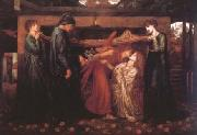 Dante Gabriel Rossetti Dante's Dream at the Time of the Death of Beatrice (mk28) oil painting picture wholesale