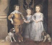 Dyck, Anthony van The Three Eldest Children of Charles I (mk25) Germany oil painting reproduction