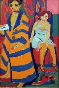 Ernst Ludwig Kirchner self-Portrait with Model (nn03) oil painting picture wholesale