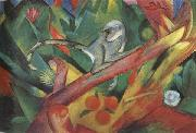 Franz Marc The Monkey (mk34) oil painting picture wholesale