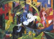 Franz Marc Painting with Cattle (mk34) oil painting picture wholesale