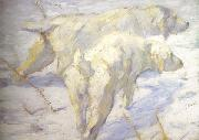 Franz Marc Siberian Sheepdogs (mk34) oil painting picture wholesale