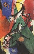 Franz Marc Monkeys (mk34) oil painting picture wholesale
