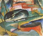 Franz Marc Sleeping Deer (mk34) oil painting picture wholesale