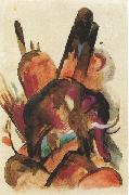 Franz Marc Elephant (mk34) oil painting picture wholesale