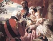 Franz Xaver Winterhalter The First of Mays (mk25) Germany oil painting reproduction