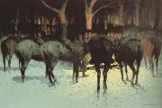 Frederic Remington The Winter Campaign (mk43) oil painting picture wholesale