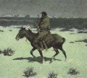 Frederic Remington The Luckless Hunter (mk43) oil painting artist