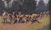 Frederic Remington Scream of Shrapnel at San Juan Hill (mk43) oil painting picture wholesale