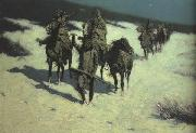 Frederic Remington Trail of the Shod Horse (mk43) oil painting picture wholesale