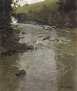 Frits Thaulow The Lysaker River in Summer (nn02) oil painting picture wholesale