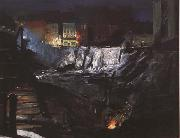 George Bellows Excavation at Night (mk43) oil painting picture wholesale